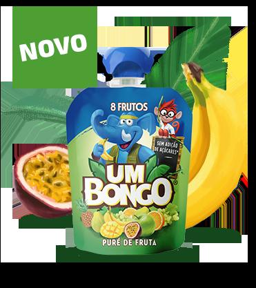 Um Bongo - Puré de fruta, 8 frutos